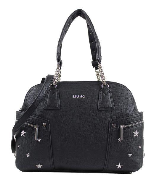 LIU JO AA0190E0058 borsa tracolla ecopelle NERO di Liu Jo in Black