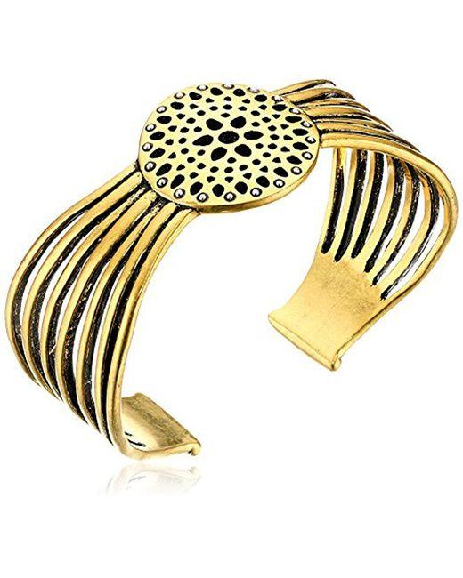 Lucky Brand - Metallic Gold Openwork Cuff Bracelet - Lyst