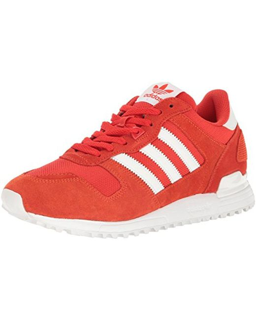 Adidas Originals  Red Zx 700 Lifestyle Runner Sneaker for Men  Lyst