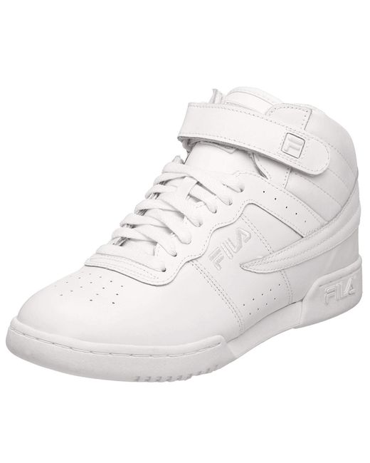 Fila F-13 Sneaker,triple White Synthetic And Fabric,7.5 M Us for men