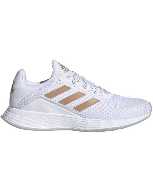 Duramo SL Shoes White/Copper Metallic 8.5 Adidas