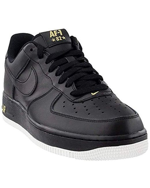 cheap for discount 7e43a 18ad9 Nike - Black Air Force 1, Trainers for Men - Lyst ...