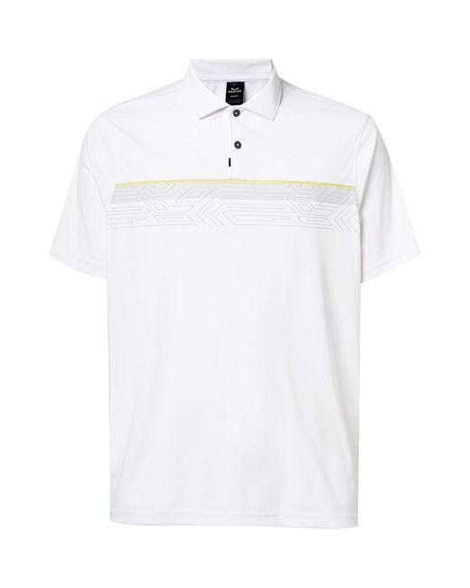 Oakley Print Layer Stripe Polo Poloshirt in White für Herren