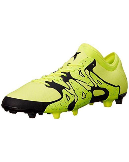 online retailer ef531 c687e ... black white solar yellow 8d454 5e1da aliexpress adidas yellow  performance x 15.2 fg ag soccer cleat for men lyst 95562 c1f9e ...