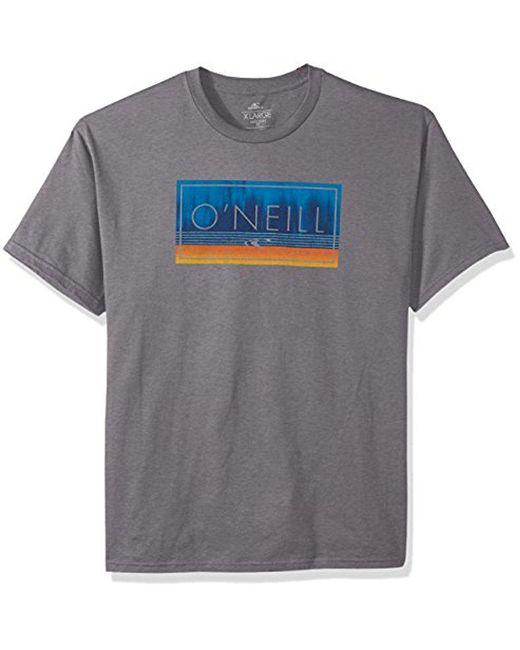 O'neill Sportswear - Gray Modern Fit Logo Short Sleeve Tee for Men - Lyst