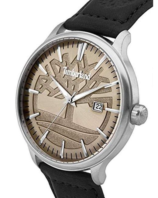 d761597ca4ce ... Timberland - Natural Reloj Análogo clásico para Hombre de Cuarzo con  Correa en Cuero 15260JS  ...