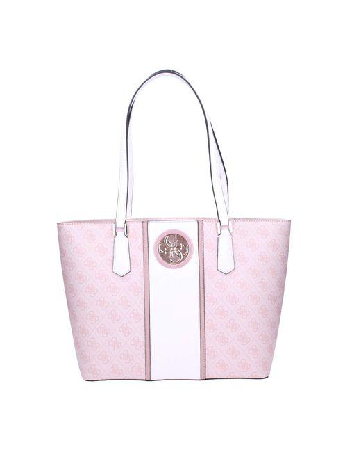 Borsa Donna Blush Hwss7186240 di Guess in Pink