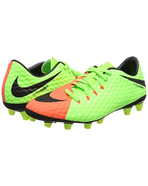hot sale online eff51 3d8f1 ... Nike - Green Hypervenom Phelon Iii Ag-pro Football Boots for Men - Lyst  ...