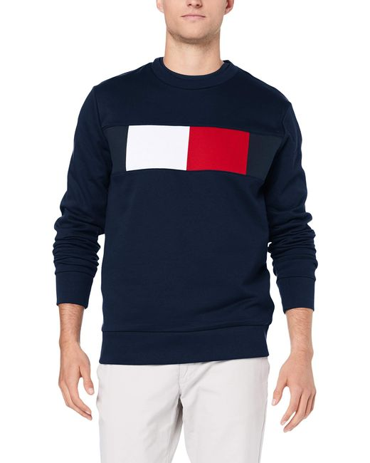 Tommy Hilfiger Herren Sweatshirt Flag Chest Logo in Blue für Herren