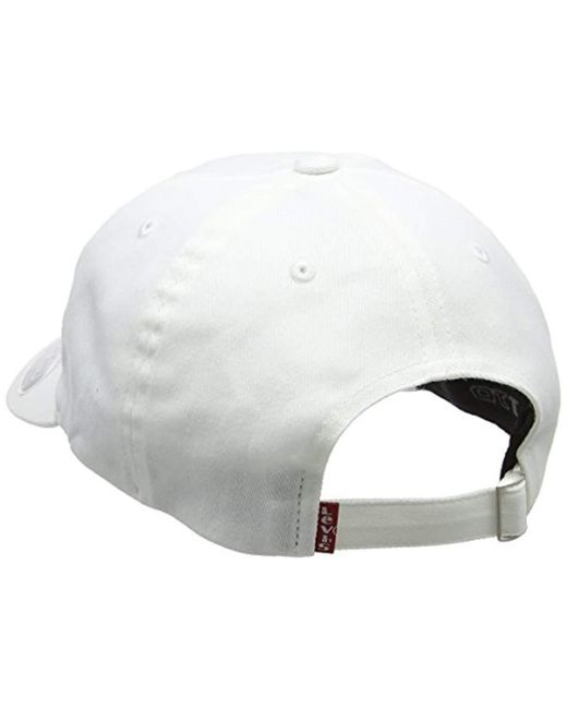 eba733894 Levi's 's Big Batwing Flex Fit Flat Cap in White for Men - Lyst
