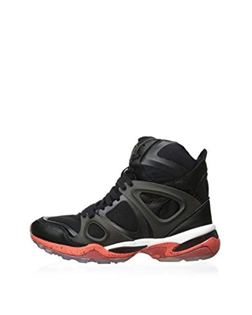 08d255471df0e Men's S Mcq Run Mid Alexander Mcqueen Black/red Synthetic Athletic Trainers