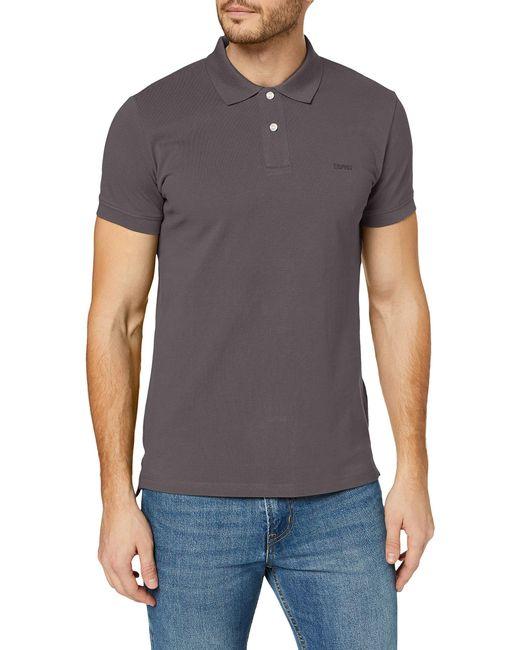 Esprit Classic Pique Poloshirt in Gray für Herren