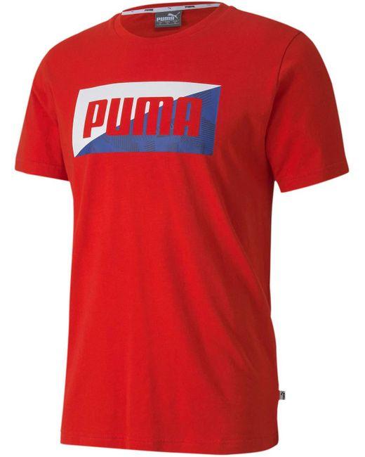 Maglietta estiva da uomo con stampa grafica - - S di PUMA in Red da Uomo