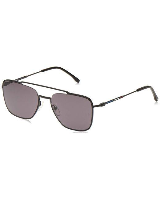 Lacoste Black L105snd Aviator Sunglasses for men