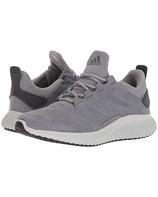 lyst adidas alphabounce cr m scarpa da corsa in grigio per gli uomini.