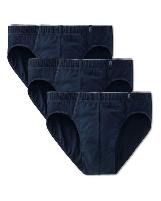 Schiesser Slip 3er Pack - Supermini, Cotton Stretch, Uni, Serie 95/5 (dunkelblau (801 Admiral), L (Large, 3-Pack)) in Blue für Herren