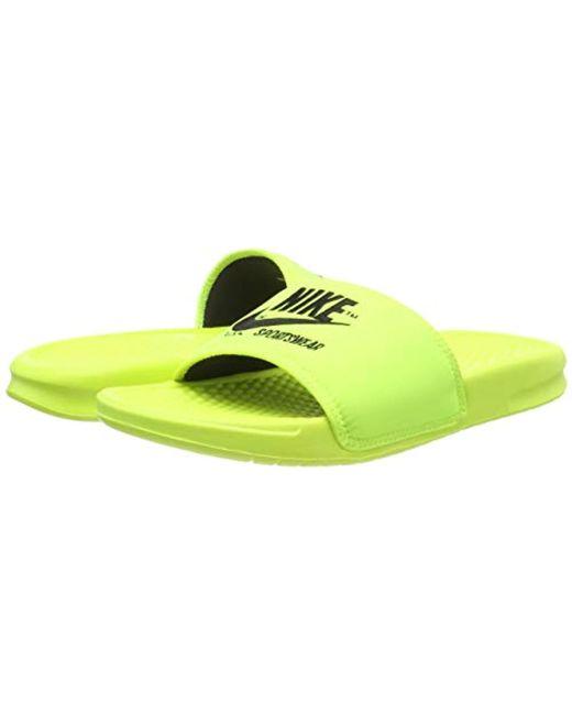 25f0e20d722d ... Nike - Yellow Benassi Jdi Txt Se Water Shoes for Men - Lyst ...