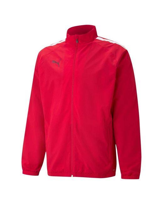 TeamLIGA Sideline Jacket Maglione di PUMA in Red da Uomo