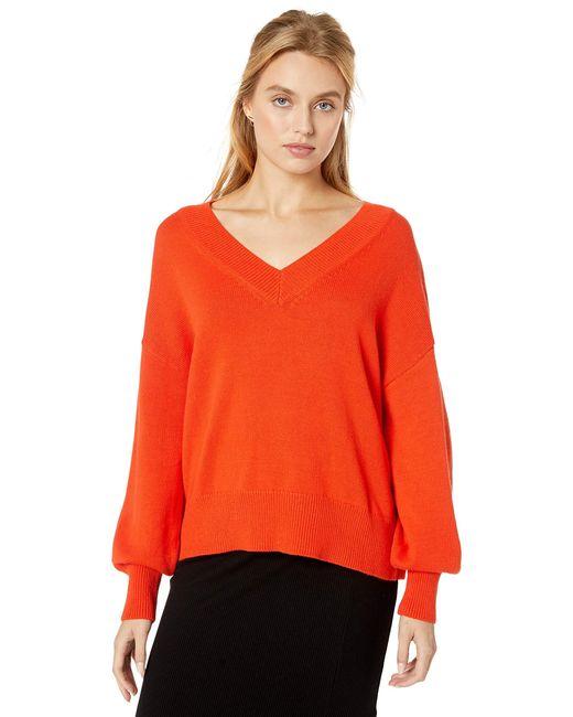 Lisa Pull doux ample à col V The Drop en coloris Orange