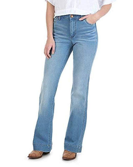 Wrangler Blue Retro Premium High Waist Trouser Jeans