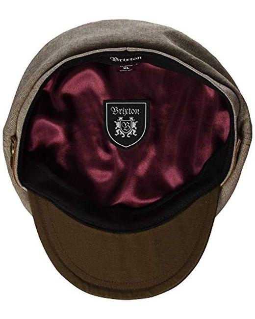 ... Brixton - Brown Kurt Workwear Hat for Men - Lyst 86a26d917f26