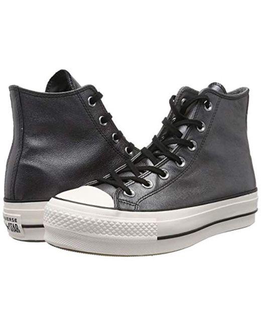 a9ac0d2424d9e ... Converse - Black Chuck Taylor Ctas Lift Hi Low-top Sneakers - Lyst ...