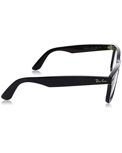 010c624e1ea ... Ray-Ban - Black Unisex Rx4340v Wayfarer Eyeglasses for Men - Lyst ...