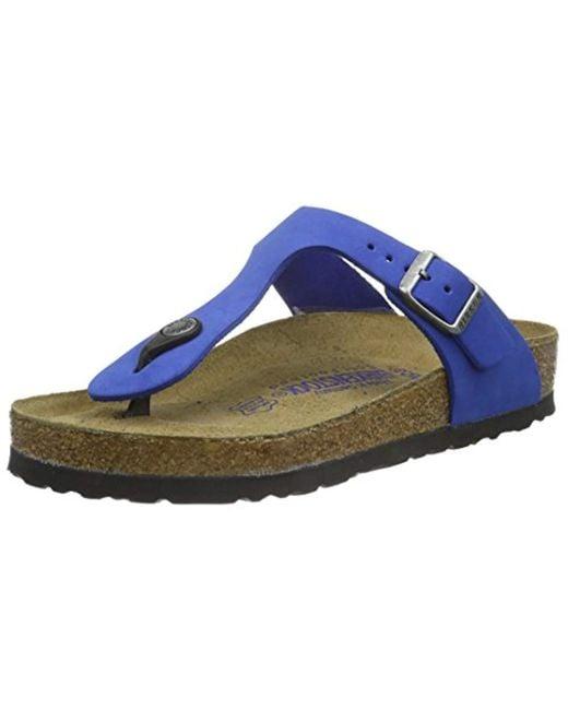the best attitude b7dbd 1a628 Blue Gizeh Leder Softfootbed, Unisex Adults' Flip Flop Sandals