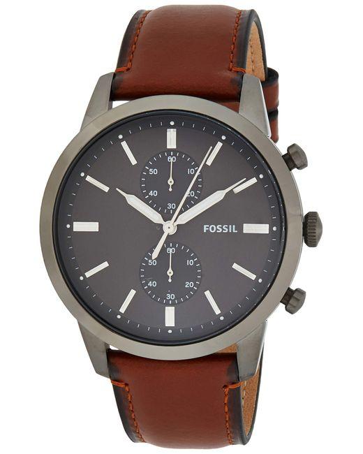 Orologio Cronografo Quarzo Uomo con Cinturino in Pelle FS5522 di Fossil in Gray da Uomo