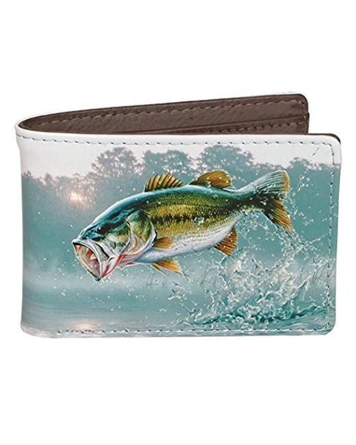 Buxton - Gray Wildlife First Of The Day Front Pocket Slimfold Wallet for Men - Lyst