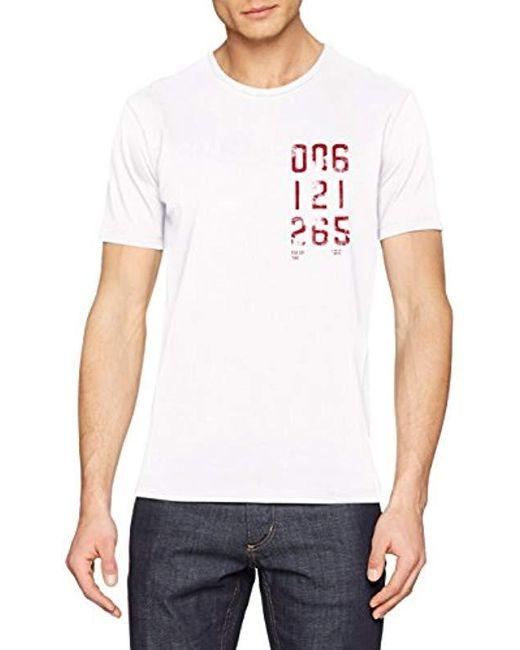 Benetton - White 's T-shirt for Men - Lyst