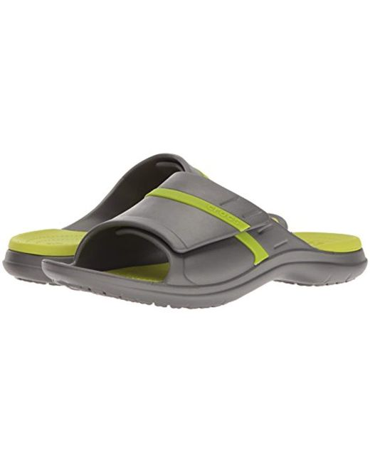 8daa614e6983 ... Lyst Crocs™ - Gray Unisex Adults  Modi Sport Slide U Sandals for Men ...
