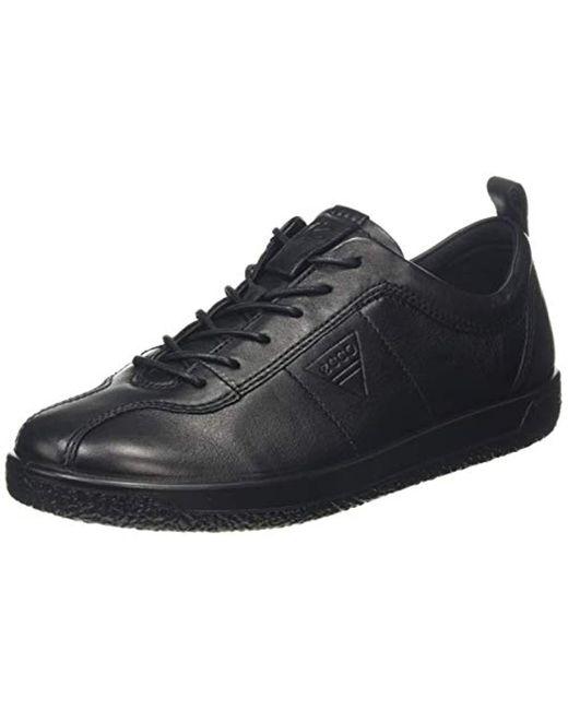 Ecco Black Soft 1 Fashion Sneaker