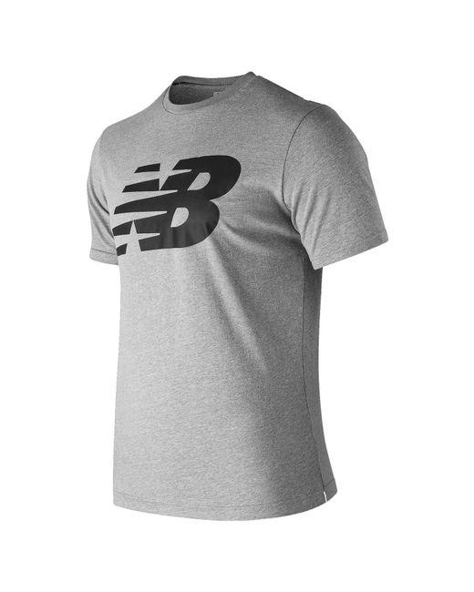 New Balance Gray S Logo Graphic Qt T Shirt Grey 2x Large for men