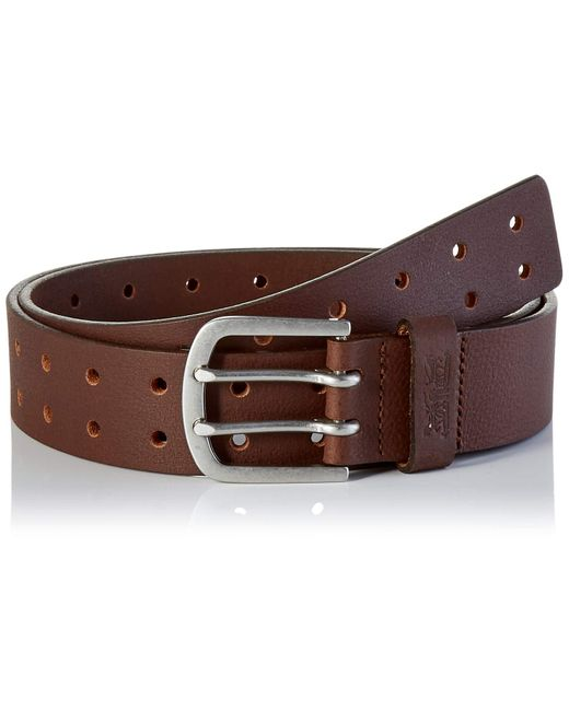 LEVIS FOOTWEAR AND ACCESSORIES Double Prong Belt Cintura di Levi's in Brown da Uomo