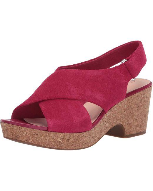 Clarks Red Maritsa Lara Wedge Sandal
