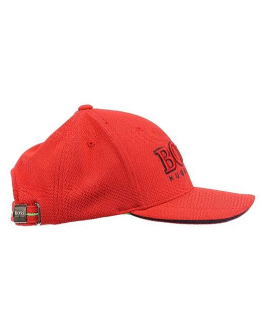 c2b19e5c24cb62 Lyst - BOSS Technical Pique Logo Cap in Red for Men - Save 30%
