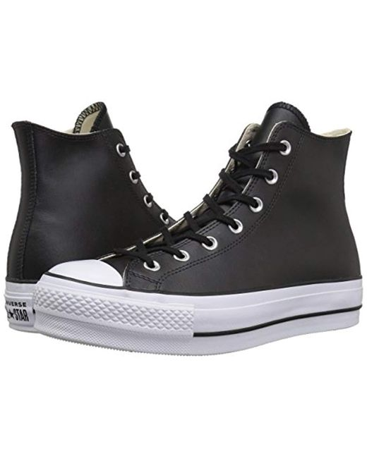 Converse Chuck Taylor All Star Platform Clean Leather High Top