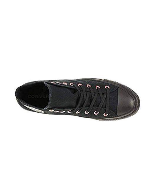 Ctas Hi Trainer Chuck Unisex Canvas Black 163286c, Shoe Size:eur 42.5