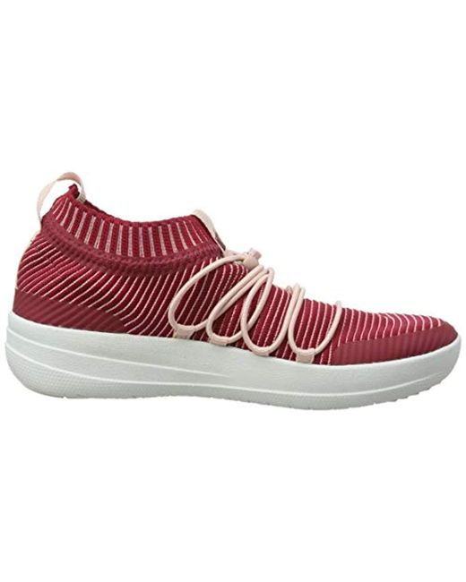 d0ef1f342fa0 ... Fitflop - Red Uberknit Slip-on Ghillie Sneakers Slip On Trainers - Lyst  ...
