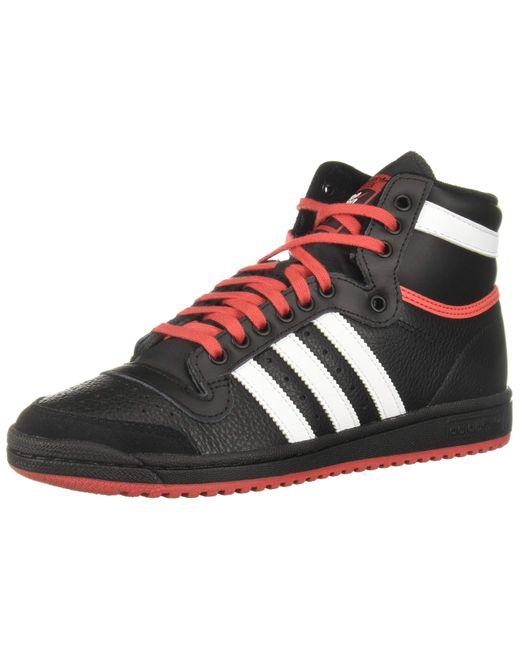 ORIGINALS Chaussures Top Ten Hi NOIR/BLANC/ROUGE 41 1/3 FR adidas ...
