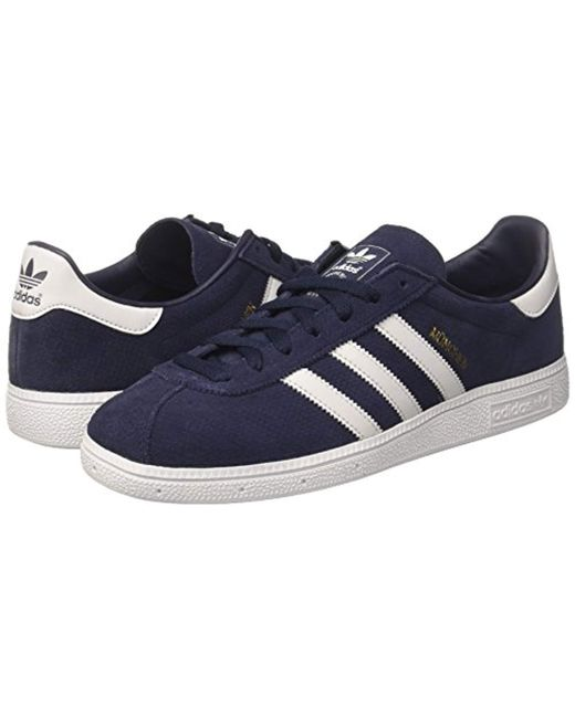 b51ab1caf8690 adidas Munchen, Trainers in Blue for Men - Lyst