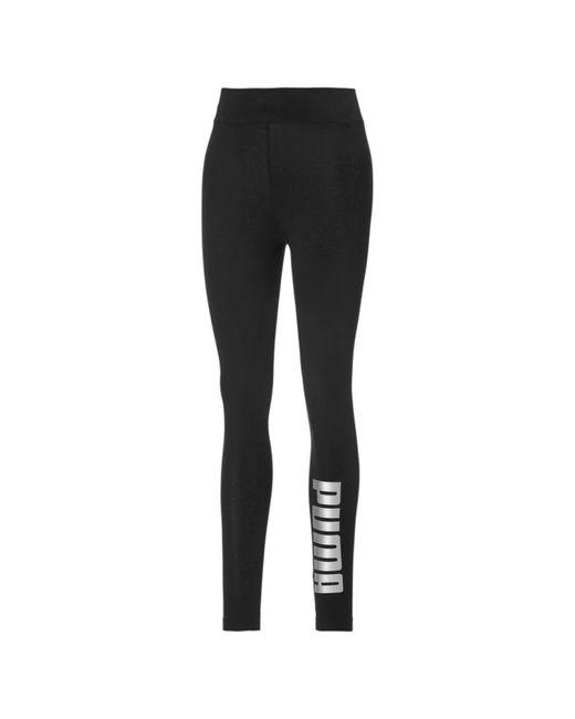 PUMA Metallic Branded Leggings Black-Silver S