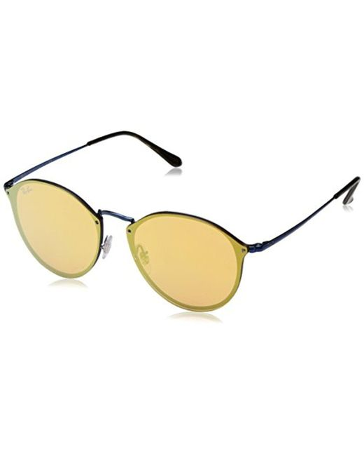 Ray-Ban - Blue Unisex Rb3574n Round Sunglasses - Lyst