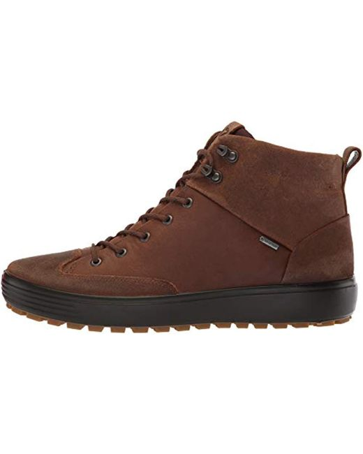 c7a056fa Ecco Soft 7 Tred High Top Gore-tex Sneaker in Brown for Men - Save ...