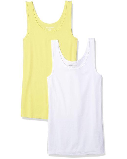 – Camiseta de tirantes de corte entallado para hombre Amazon Essentials de color Yellow