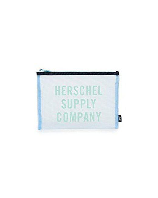 Herschel Supply Co. - Blue Network Large Mesh Pouch - Lyst