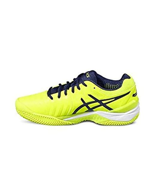 aa654b76e78ce Asics Rubber Gel-resolution 7 Clay Gymnastics Shoes in Yellow for ...