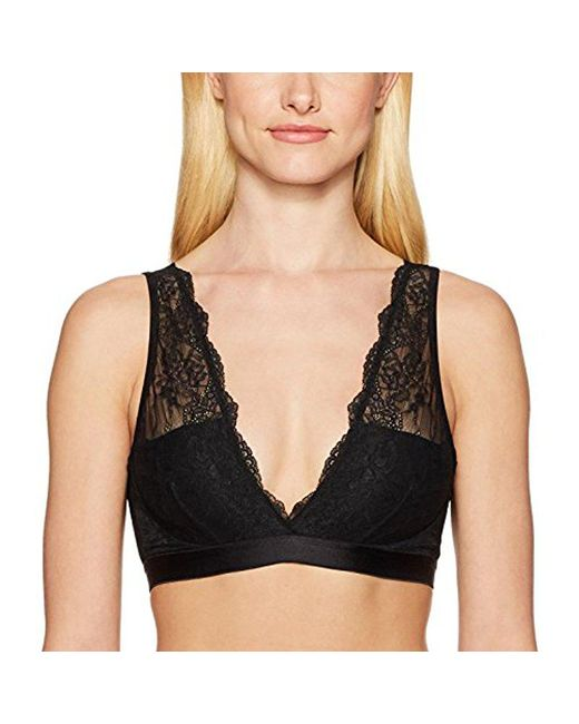 Mae - Black Deep Plunge Bralette (for A-c Cups) - Lyst