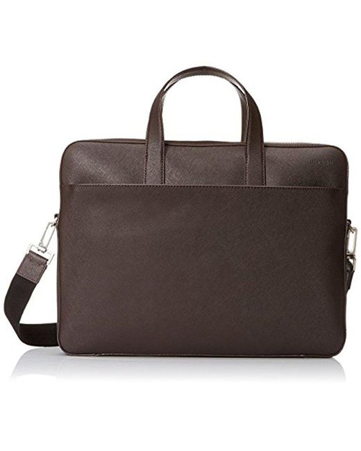 60644147fd Jack Spade - Brown Barrow Leather Slim Briefcase for Men - Lyst ...